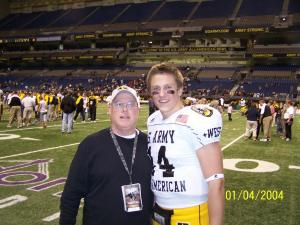 Coach Skip with Blaine Gabbart at the U.S. Army All-American Game